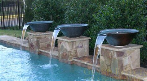 inground pool fountains water fountains splash pools construction chino fountains