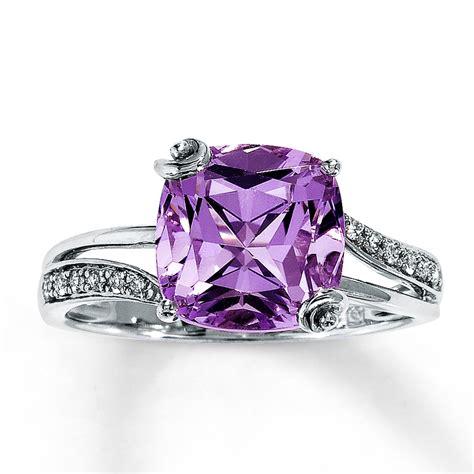jared pink amethyst ring 1 15 ct tw diamonds 14k white gold
