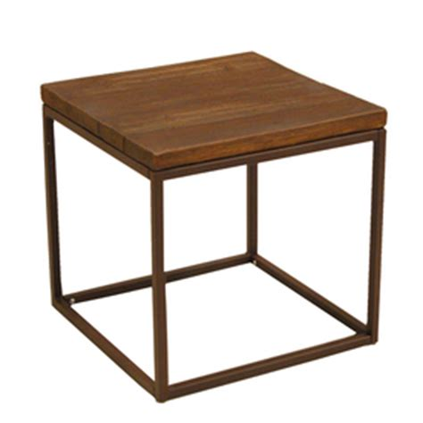 Lowes Patio Side Table by Shop Allen Roth Belanore 20 In X 20 In Rust Steel Square