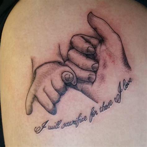 dark child tattoo and pinkiepromise tattoos