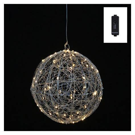 vickerman 390184 10 quot silver wire ball 60led wmwt 3v