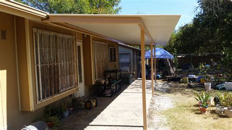 premium colored panel lean to awning carport patio