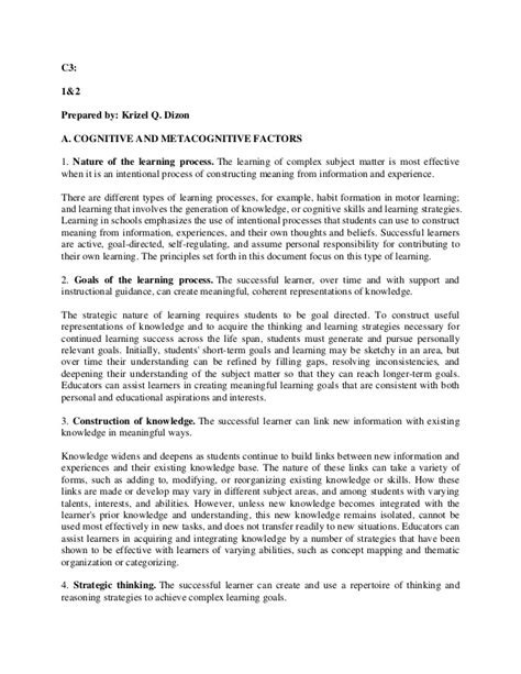 abstract thesis of metacognition metacognitive essay essay do s and don ts a practical