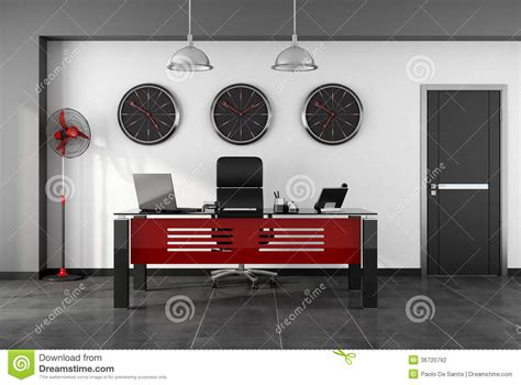 red and black computer desk red and black modern office stock photography image
