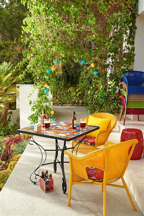 colorful patio furniture best outdoor inspiration images on yard furniture colorful
