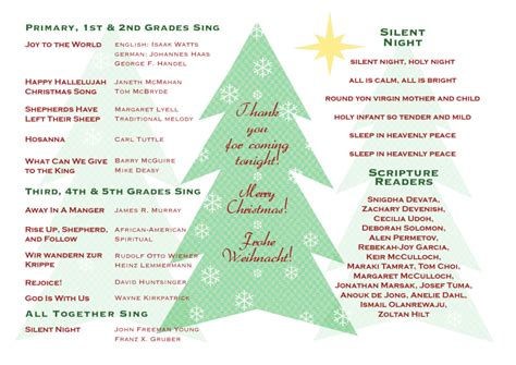 christmas program template elementary school programs dax graphics