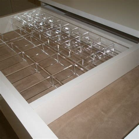 Acrylic Drawer Divider by Acrylic Drawer Dividers In Closet Design Ideas Pictures
