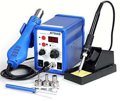 Soldering Iron Yihua 878ad 2in1 878ad soldering iron rework station air gun tip 3 nozzles heat gun holder welder