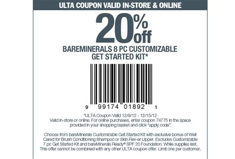 ulta bareminerals coupon printable coupon ulta 2017 2018 best cars reviews