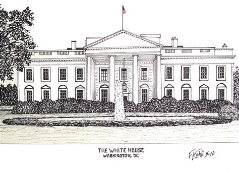 how to draw the white house the white house drawing by frederic kohli