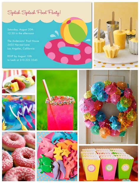 birthday themes summer pool party inspiration board birthdays summer and