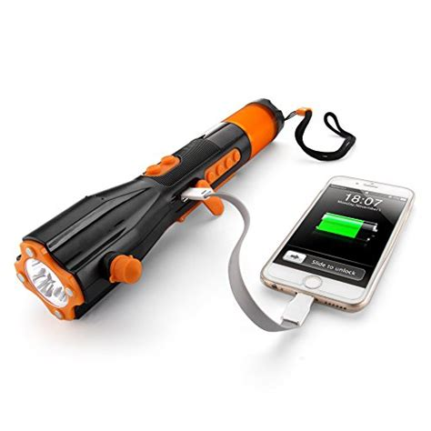 best crank usb charger flexzion emergency led flashlight rechargeable crank