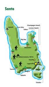 santo map vanuatu touristische karte