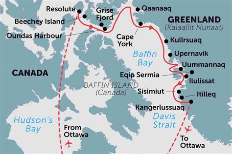 northwest passage high arctic villages  icebergs