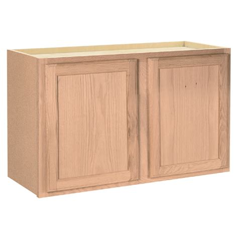 lowes kitchen cabinets unfinished shop project source 36 in w x 15 in h x 12 in d unfinished
