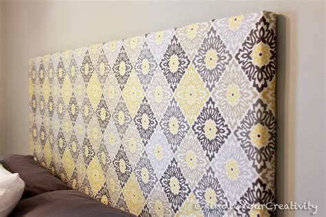 Diy Headboard Fabric Kindle Your Creativity Master Bedroom Redo Diy Fabric Headboard