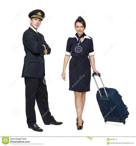 captain beautiful captain of the aircraft and a beautiful flight attendant