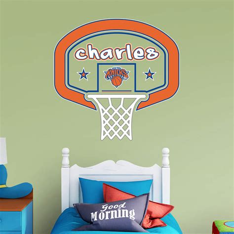 custom fatheads wall stickers new york knicks personalized name wall decal shop