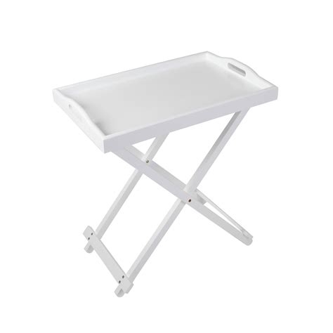serving tray side table serving tray side table with handle in white dar 38436142