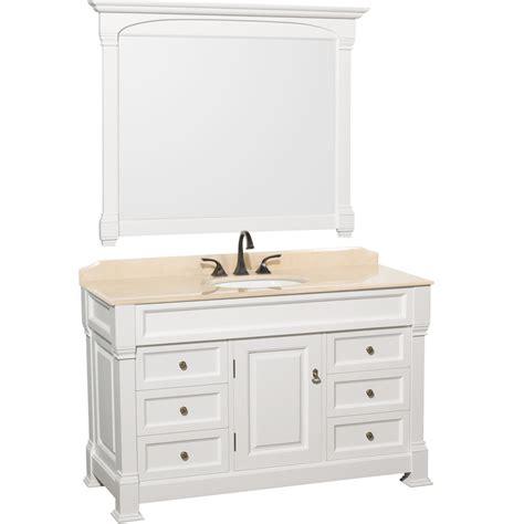 single bathroom vanity white 55 quot andover single bath vanity white bathgems com