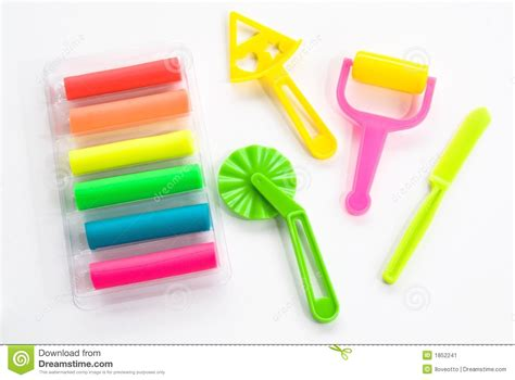 colorful clay colorful clay for children stock image image 1852241