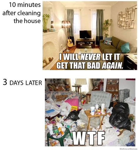 House Cleaning Memes by 10 Minutes After Cleaning The House Weknowmemes