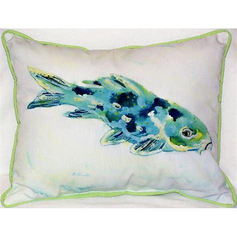 pillow fish blue koi indoor outdoor pillow d 233 cor shop