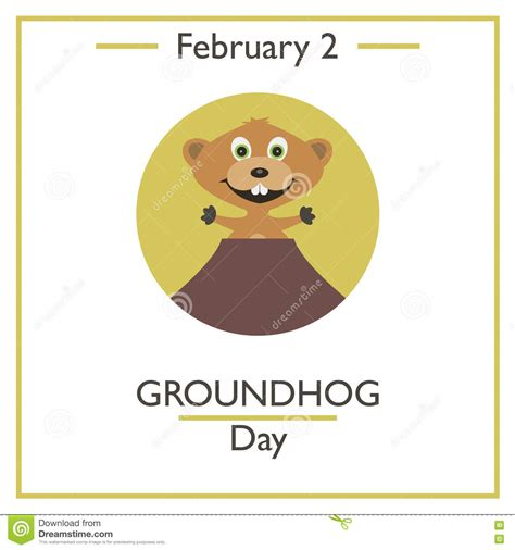 groundhog day time woodchuck illustrations vector stock images