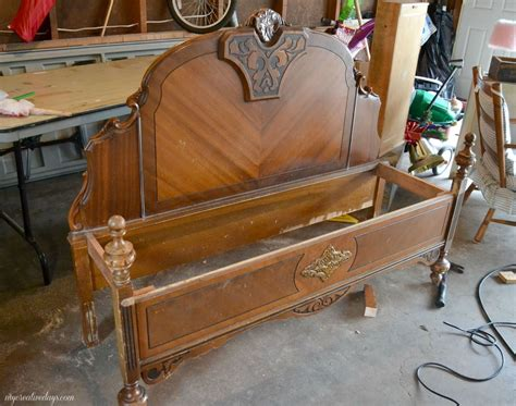 old bed hometalk repurposed old headboard makes charming bench