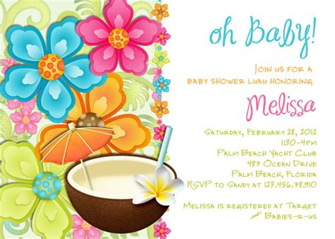 luau invitation template luau baby shower invitations template best template
