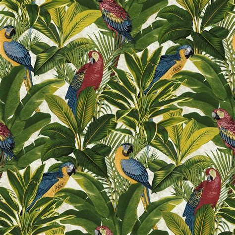 tropical wall grandeco ideco bird pattern parrot motif tropical leaves wallpaper a11502 birds