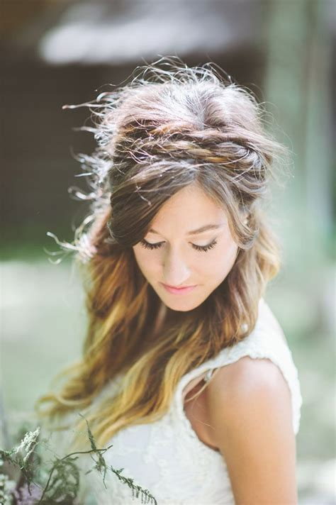 Wedding Hair Boho Style by Wedding Hair Styles Boho Wedding Hair Chwv
