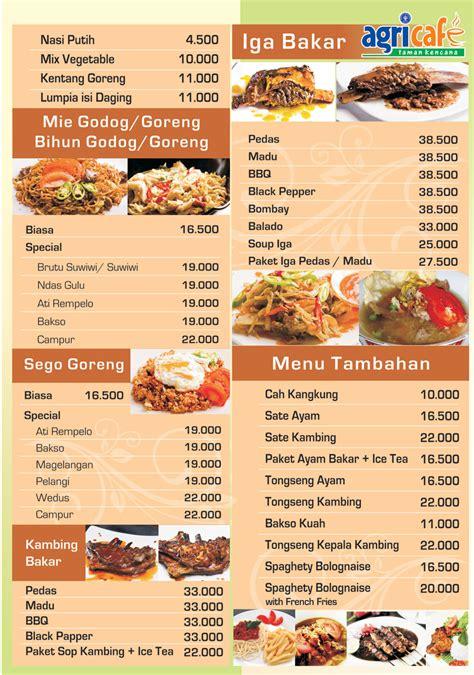 template design menu makanan ingin dapatkan badan ideal dan sehat ikuti contoh daftar
