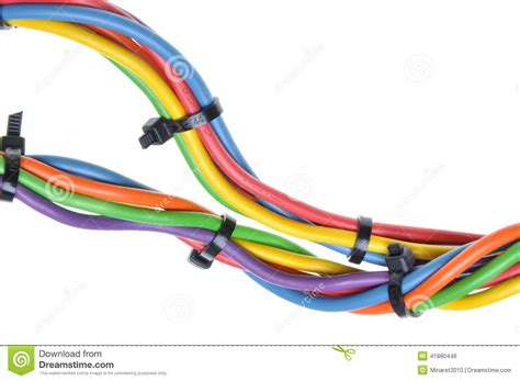 electrical wires with cable ties stock photo image 41880446