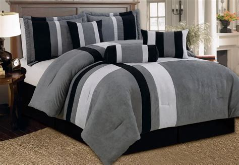 black and gray bedding modern country bedroom decor with 7 pieces gray black
