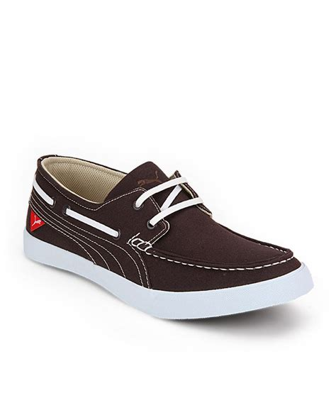 boat shoes puma puma brown boat style shoes buy puma brown boat style
