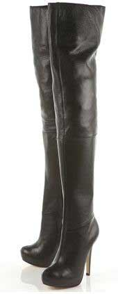 topshop leather thigh high boots gt