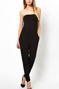 Black One Shoulder Sexy Jumpsuit Rompers » Ideas Home Design