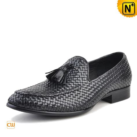 woven loafers mens s woven leather loafers with tassel cw750059