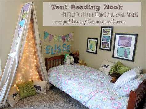 Drop Cloth Rug Tent Reading Nook For A Small Space