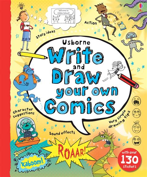 how to make ur own doodle write and draw your own comics at usborne children s books