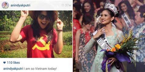 Kaos Palu Palu Visit 2015 heboh puteri indonesia 2015 anindya kusuma putri pakai