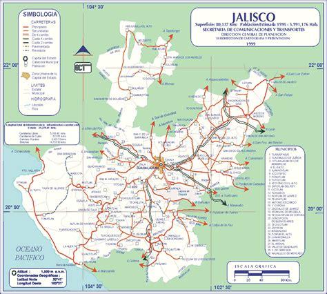 jalisco mexico map guadalajara jalisco mexico map