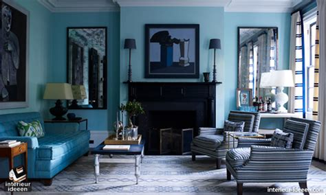 home element interior design classic blue gold living room blauwe woonkamer interieur ideeen