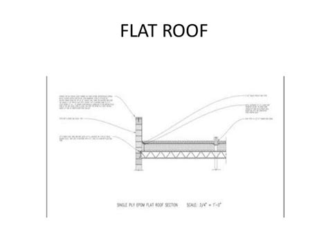 flat roof detail section roofs and truss