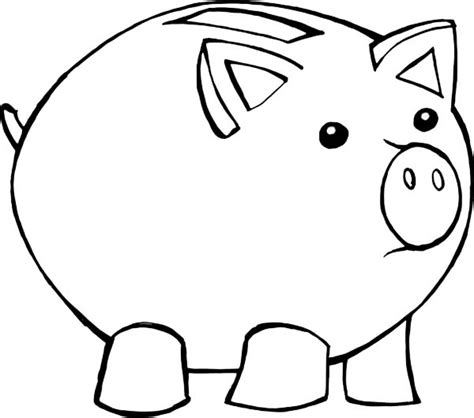 piggy bank coloring pages for kids barriee
