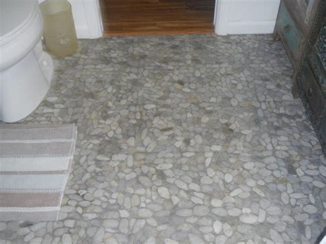 river rock bathroom floor flooring turnkey home renovations