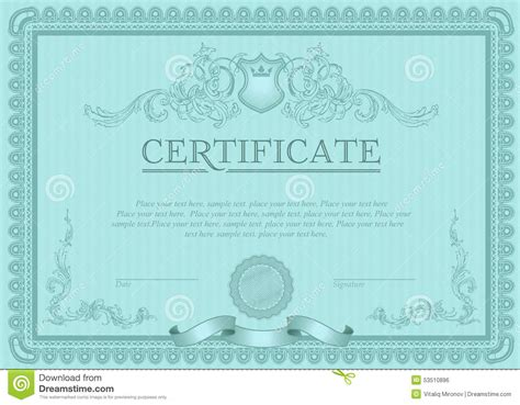 certificate or coupon template stock vector image 53510896