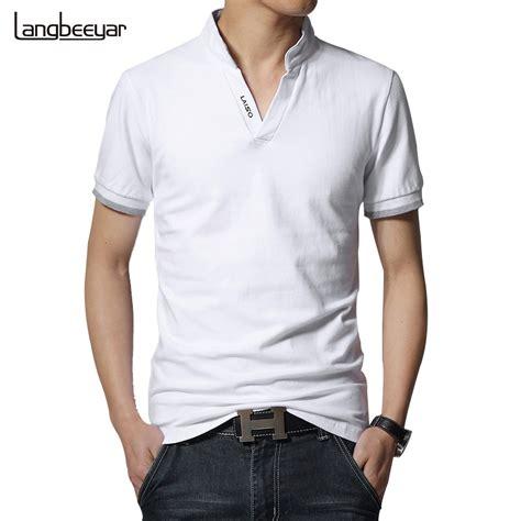 sale 2016 new summer fashion mens t shirts v neck slim