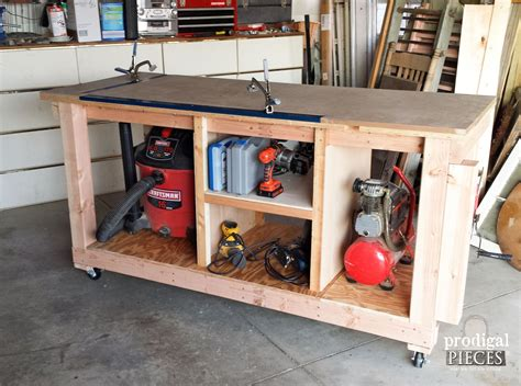 diy shop bench diy workbench fit for a junker prodigal pieces